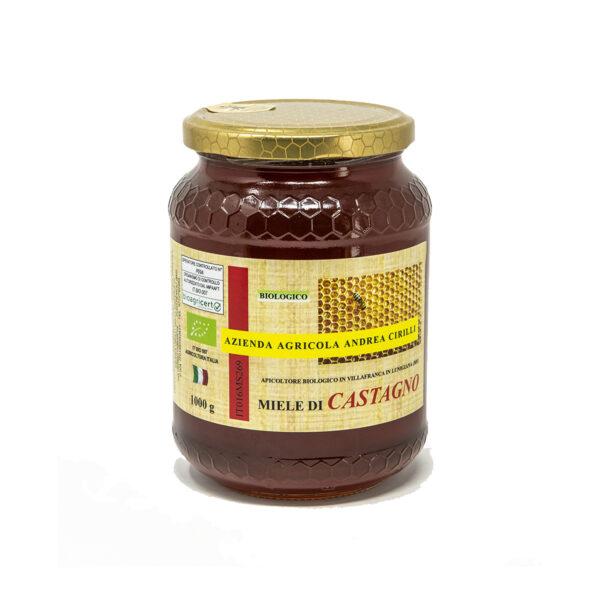 miele di castagno biologico