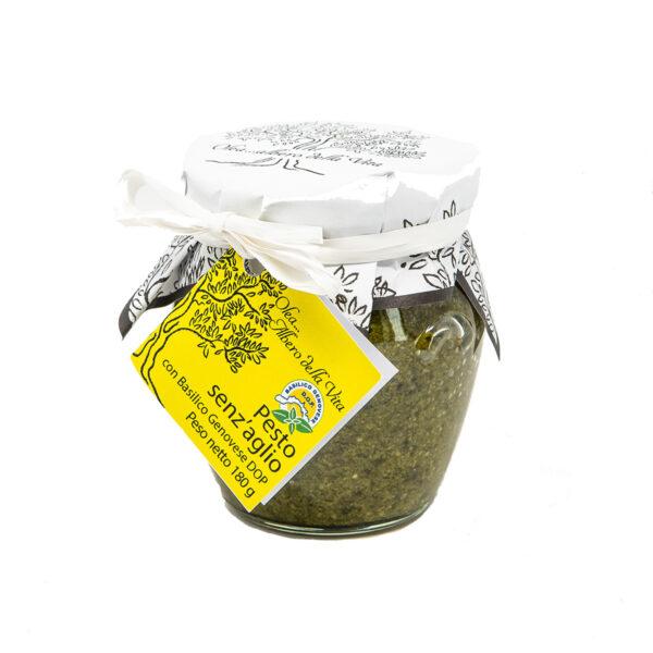 pesto genovese senza aglio con basilico dop